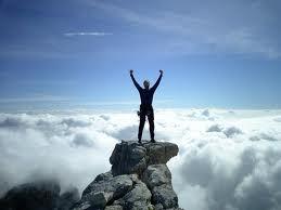 Climber on peak